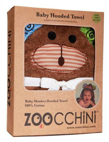 Zoocchini - Boys Accessories / Towel - Max The Monkey Hooded Towel