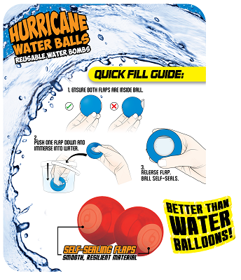 Prime Time - Water Games - Hurricane Reusable Water Balls (3-Pack)
