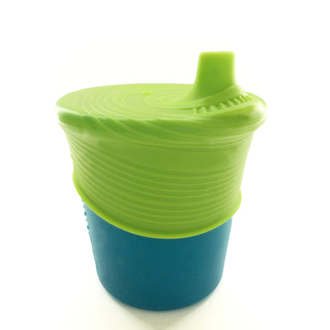 Silikids - Baby Feeding - Sippy Set Cup & Top Teal / Storm