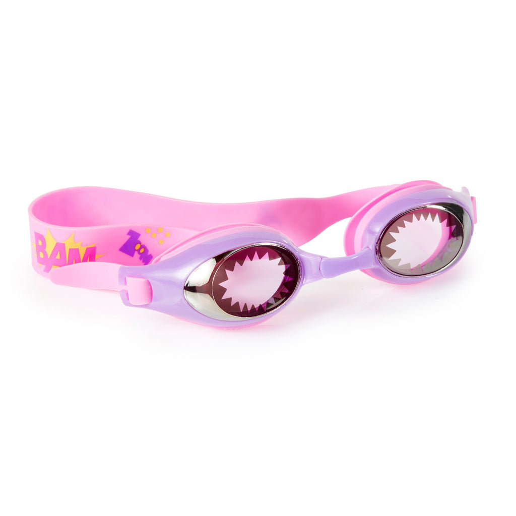 Bling2o - Swimming Goggles / Super Hero - Cat Girl Purple Pink