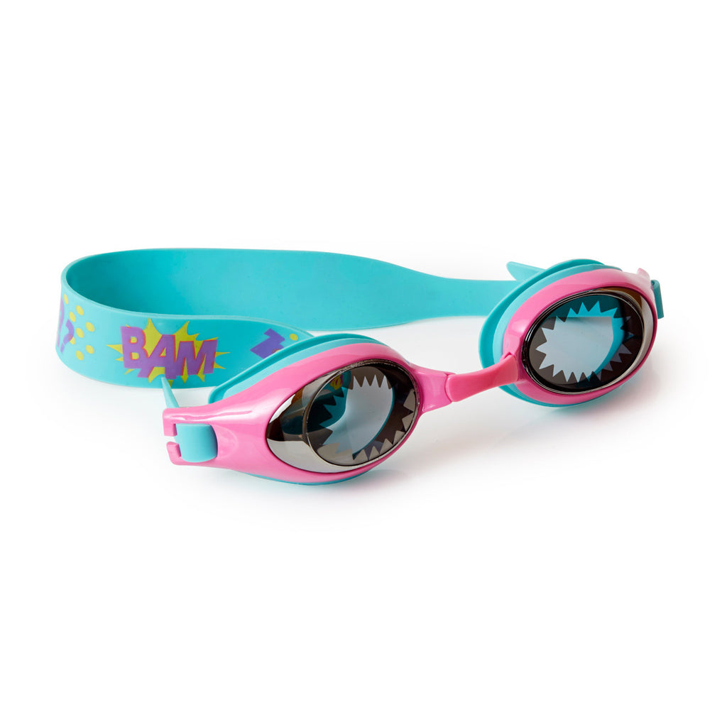 Bling2o - Swimming Goggles / Super Hero - Wonder Girl Pink Blue