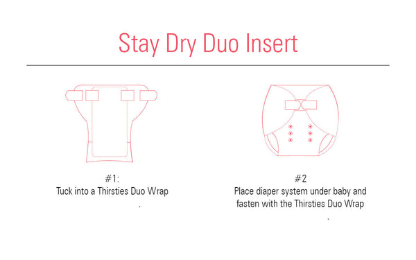 Thirsties - Baby's Cloth Diapers - Stay Dry Duo Insert