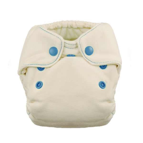 Thirsties - Baby's Cloth Diapers - Snap Natural Newborn All In One / Ocean Life