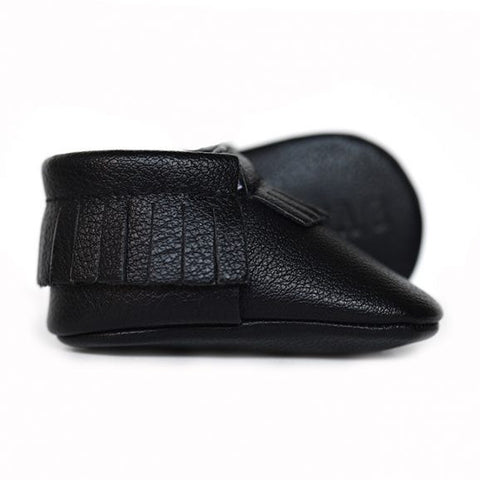 Sweet N Swag - Babies Shoes / Moccasins - Shadow Black