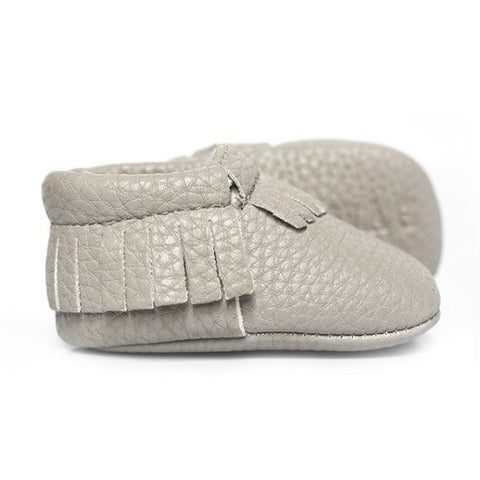 Swin N Swag - Babies Shoes / Moccasins - Stone Grey