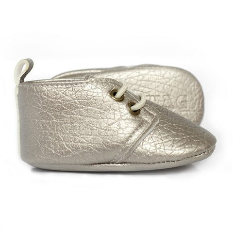 Sweet N Swag - Babies Shoes / Moccasins - Masquerade / Platinum Moxfords