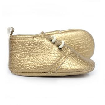 Sweet N Swag - Babies Shoes / Moccasins - Goldicott – Gold Moxfords