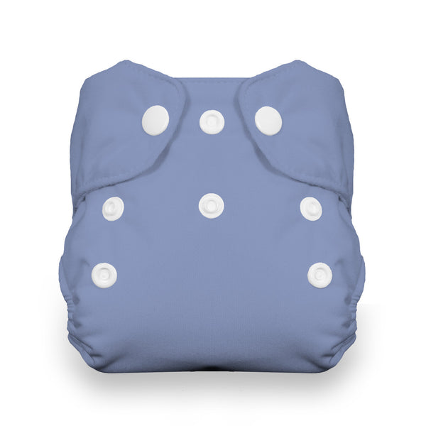 Thirsties - Baby's Cloth Diapers - Snap Natural Newborn All In One / Storm Cloud