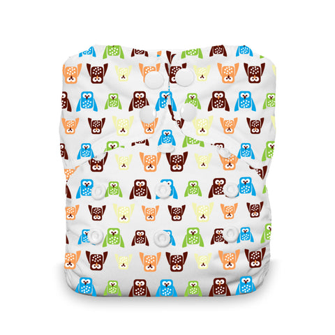 Thirsties - Baby's Cloth Diapers - Snap One Size All In One / Hoot