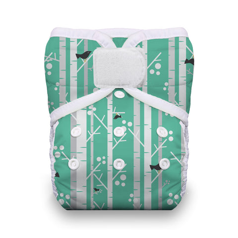 Thirsties - Baby's Cloth Diapers - One Size Pocket Diaper Hook & Loop / Aspen Grove