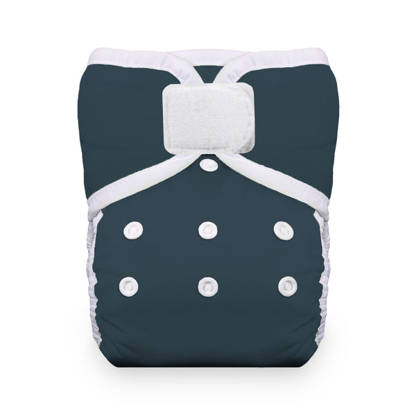 Thirsties - Baby's Cloth Diapers - One Size Pocket Diaper Hook & Loop / Midnight Blue