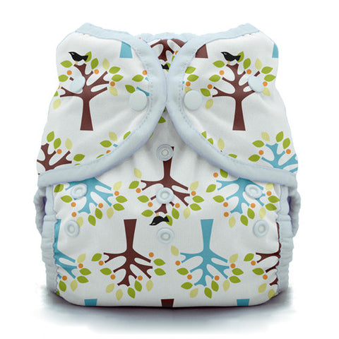 Thirsties - Baby's Cloth Diapers - Duo Wrap Hook & Loop / Blackbird