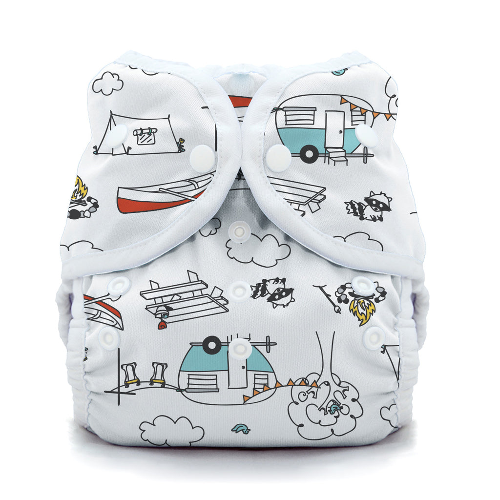 Thirsties - Baby's Cloth Diapers - Snap Duo Wrap / Happy Camper
