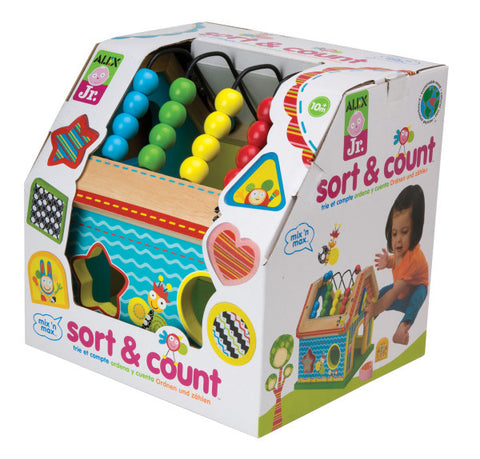 Alex Jr. - Wooden Developmental Toy / Sort and Count