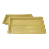 "Permanest 22"" x 11"" Tan Trays (3)"
