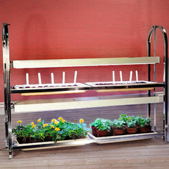 2-Tier/4-Tray Grow Light Plant Stand