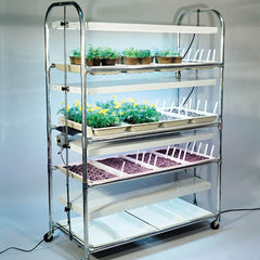 4 Tier Grow Light/Plant Stand (16 Trays)