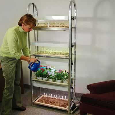 4 Tier Grow Light/Plant Stand (4 Trays)