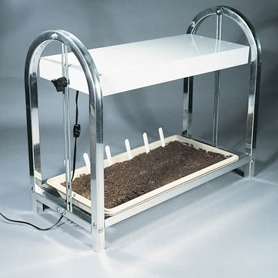 Single Grow Light/Plant Stand and Tray