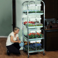 4-Tier/8-Tray Grow Light Plant Stand