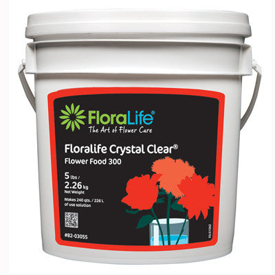 Floralife Crystal Clear Flower Food  5 lb. Pail