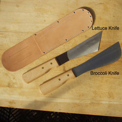 Broccoli Knife Carbon Steel Blade Wood Handle