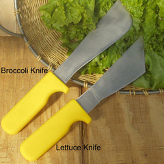 Stainless Steel Lettuce Knife with Yellow Handle
