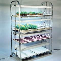 4 Tier Grow Light/Plant Stand Heat Mat Kit (16 Trays)