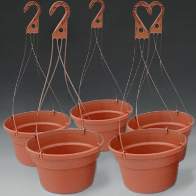 "12"" Dillen Plastic Hanging Baskets (5)"