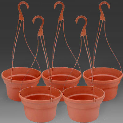 "10"" Dillen Plastic Hanging Baskets (5)"
