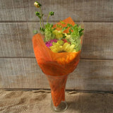 Tissue-Look Bouquet Sleeves (Orange Small)