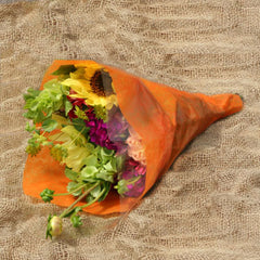 Tissue-Look Bouquet Sleeves (Orange Large)