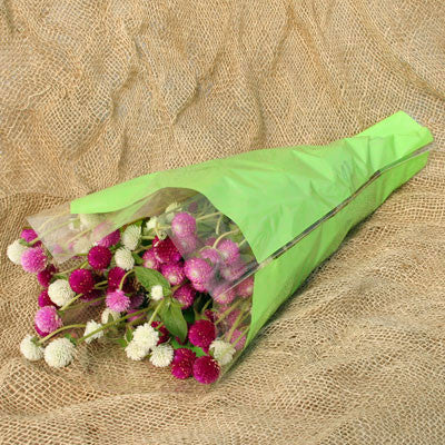 Tissue-Look Bouquet Sleeves (Green Large)