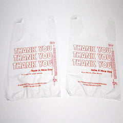 Plastic Thank You T-Shirt Bags - Small