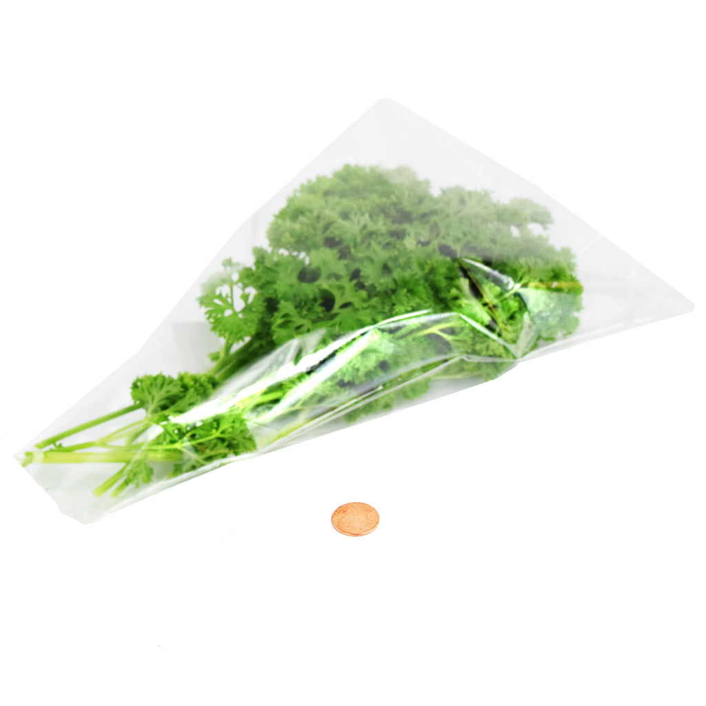 Resealable Closed Bottom Herb and Greens Sleeves - Large