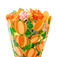 Pumpkin Print Bouquet Sleeves