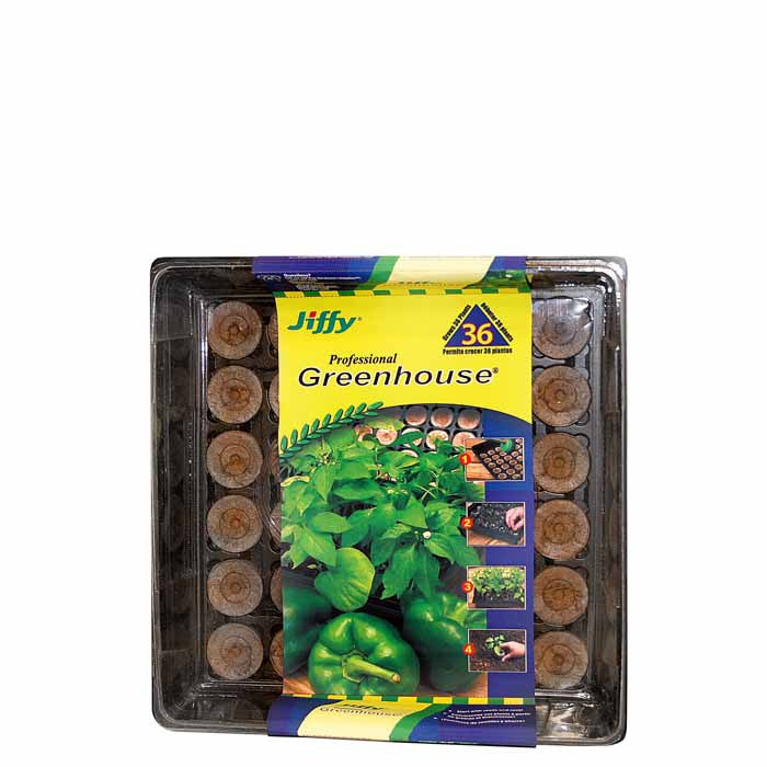 Jiffy Greenhouse 36 ct Medium Pellet Kit