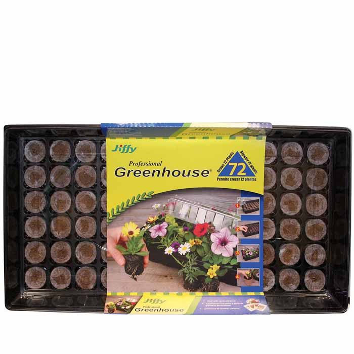 Jiffy Greenhouse 72 ct Medium Pellet Kit