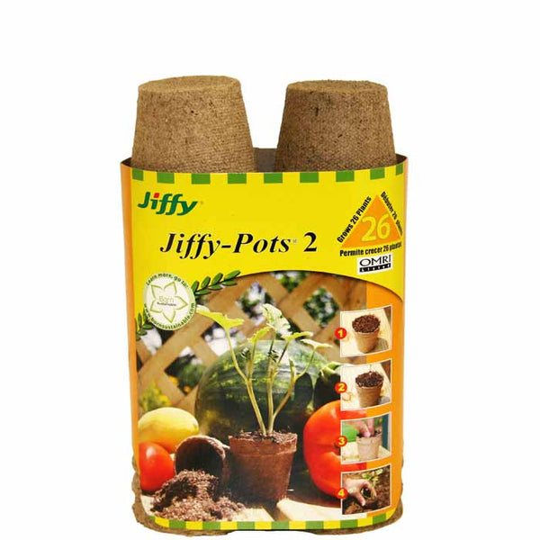 "Jiffy 2"" Round Pot Pack 26ct."