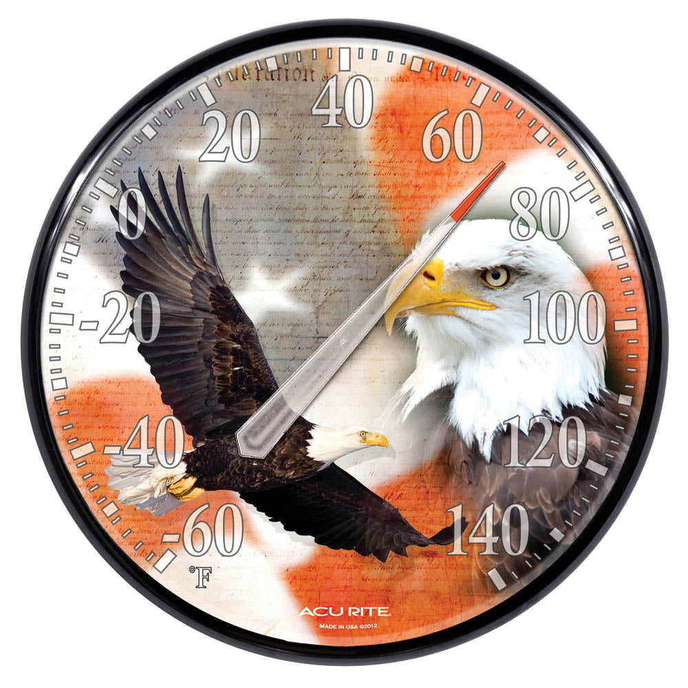 "12.5"" Bald Eagle Thermometer"
