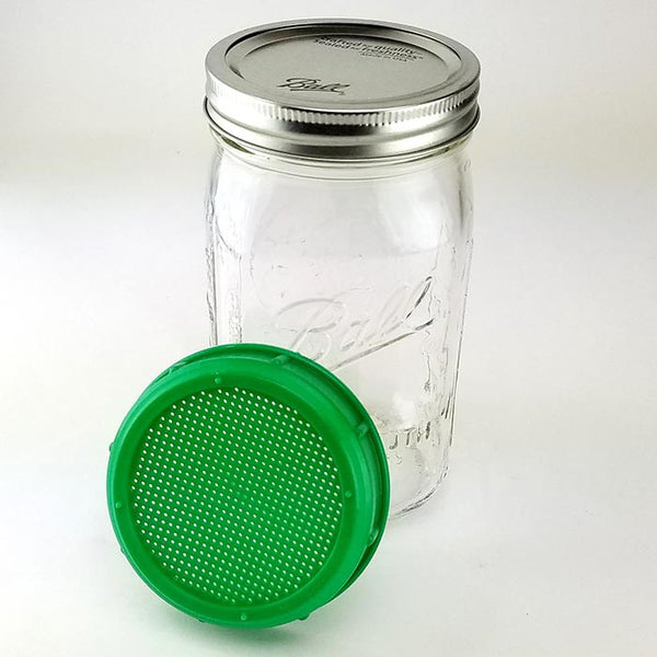 1 Quart Mason Jar and Sprouting Lid Combo