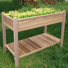 Elevated Red Cedar Rectangular Raised Bed