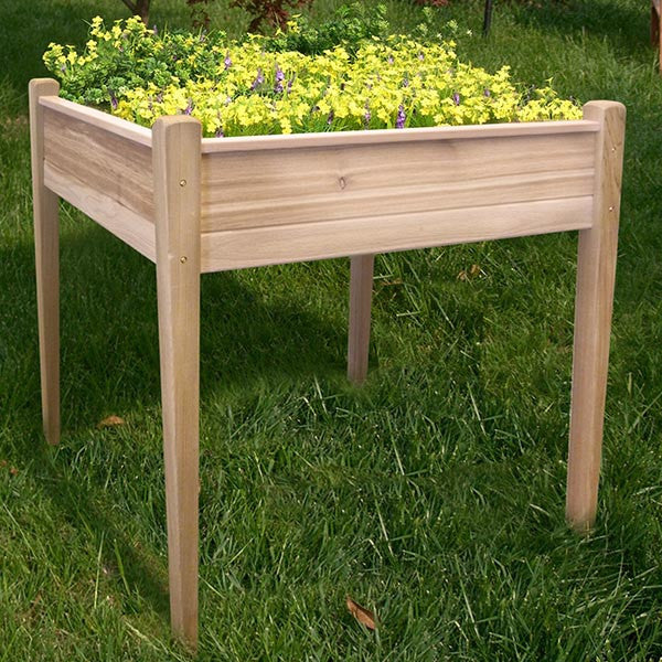 Elevated Red Cedar Square Raised Bed