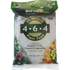 Suståne 4-6-4 All Natural Flower & Vegetable Plant Food & Organic Fertilizer