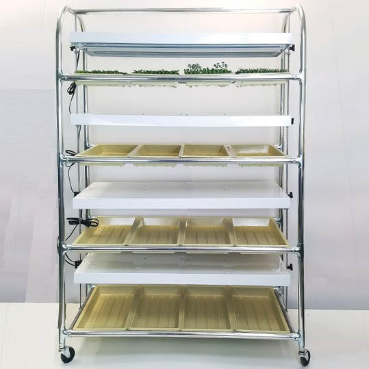 16 Tray Grow Light/Plant Stand with T-8 LED Tubes