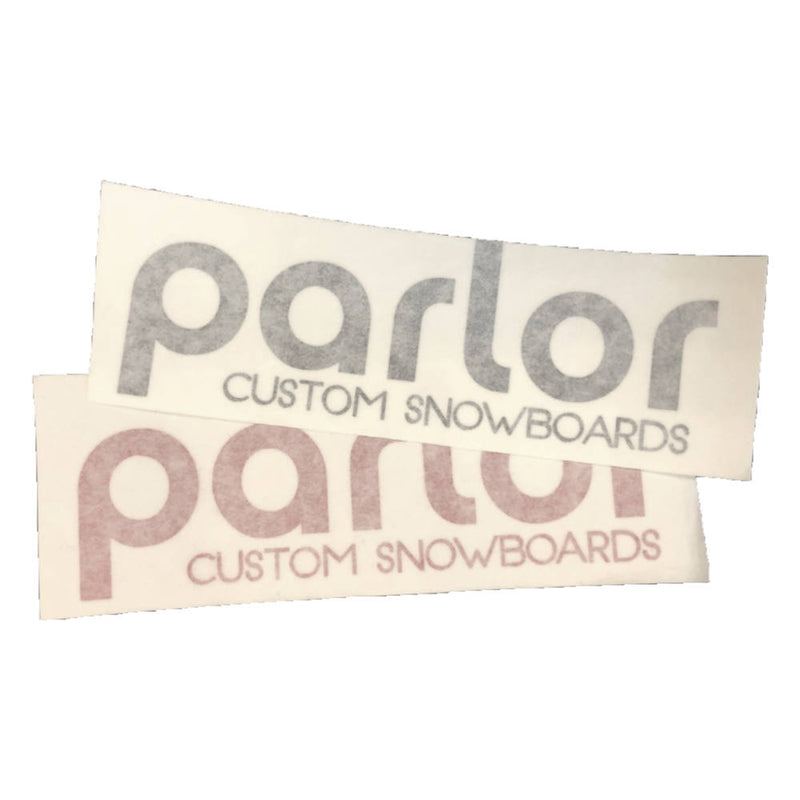 Parlor Snowboard Stickers