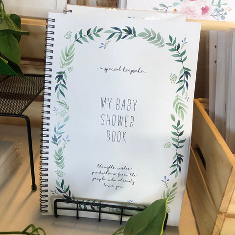 //BABY SHOWER BOOK - EVERGREEN//