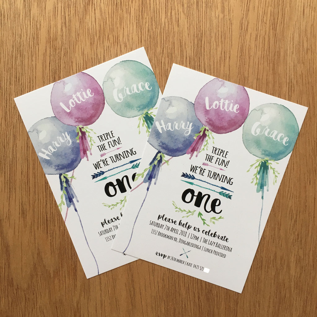 //BOHO BALLOON INVITE//