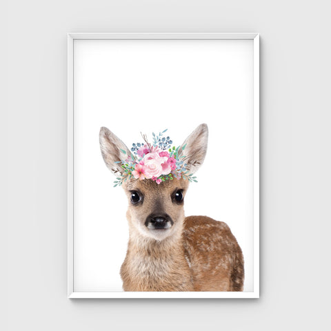 //FLOWER CROWN DEER - PASTEL//