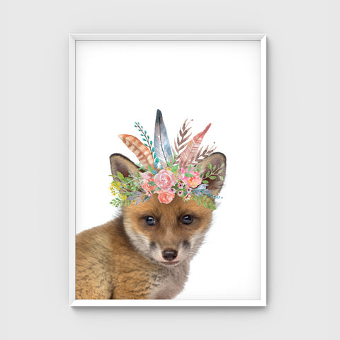 //FLOWER CROWN FOX//